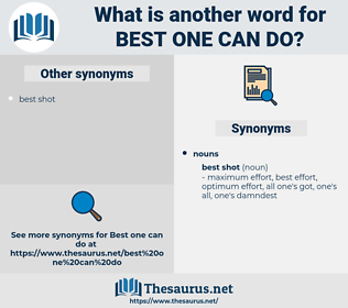 best one can do, synonym best one can do, another word for best one can do, words like best one can do, thesaurus best one can do
