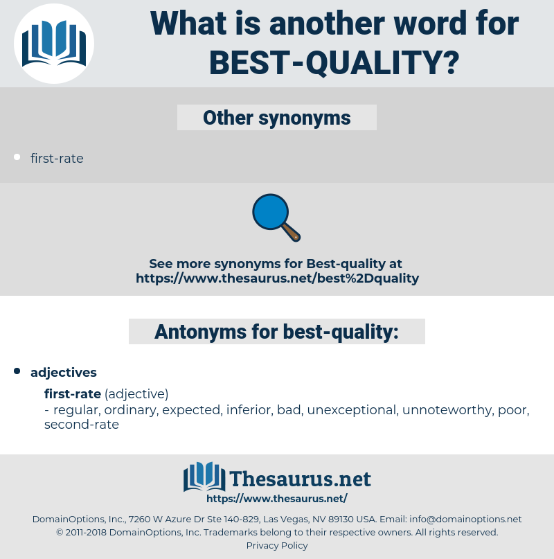 best-quality, synonym best-quality, another word for best-quality, words like best-quality, thesaurus best-quality