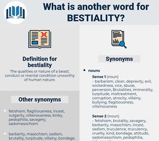 bestiality, synonym bestiality, another word for bestiality, words like bestiality, thesaurus bestiality