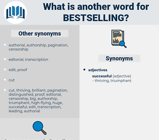 bestselling, synonym bestselling, another word for bestselling, words like bestselling, thesaurus bestselling
