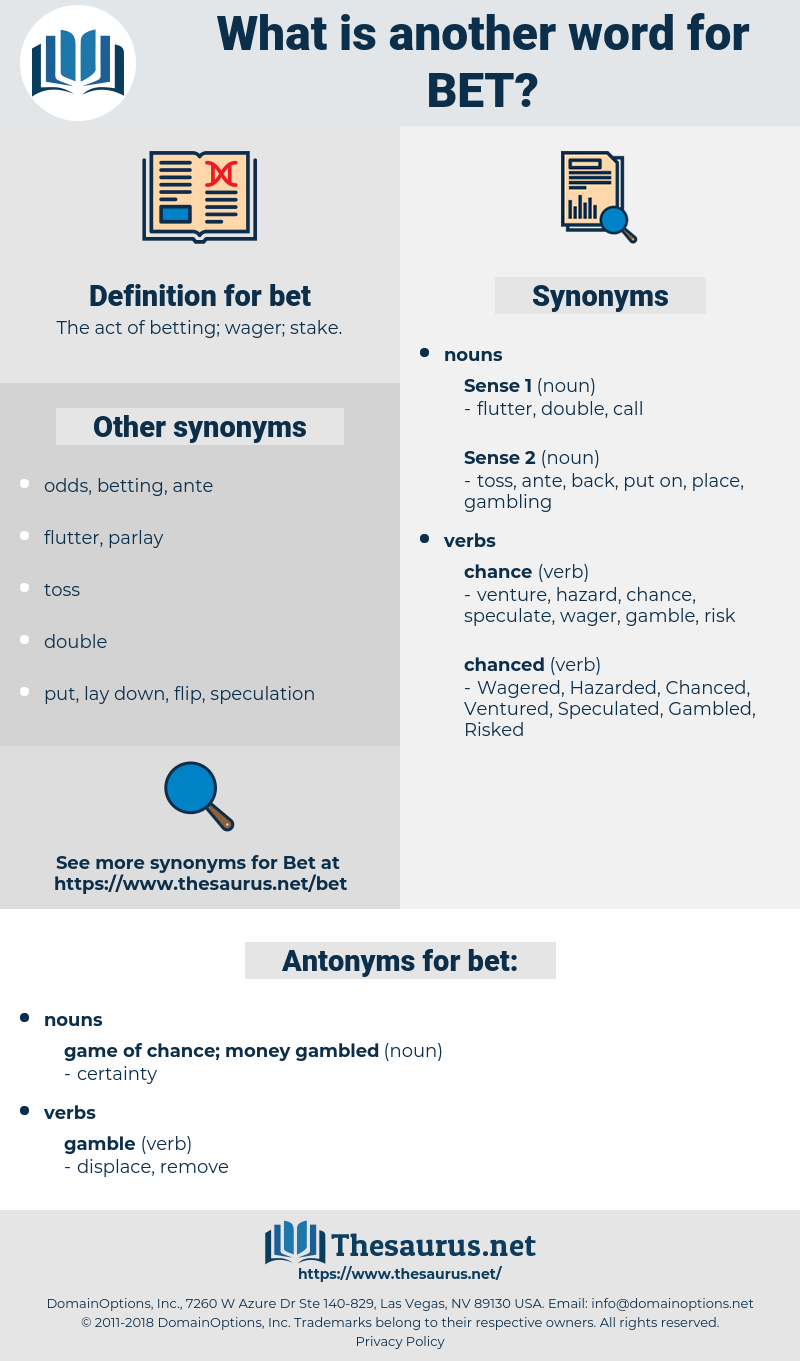 betting synonyms