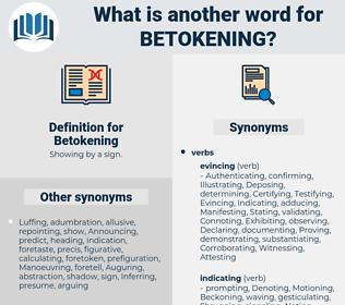 Betokening, synonym Betokening, another word for Betokening, words like Betokening, thesaurus Betokening
