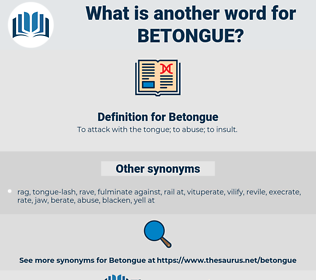 Betongue, synonym Betongue, another word for Betongue, words like Betongue, thesaurus Betongue