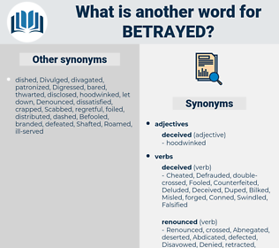 Betrayed, synonym Betrayed, another word for Betrayed, words like Betrayed, thesaurus Betrayed
