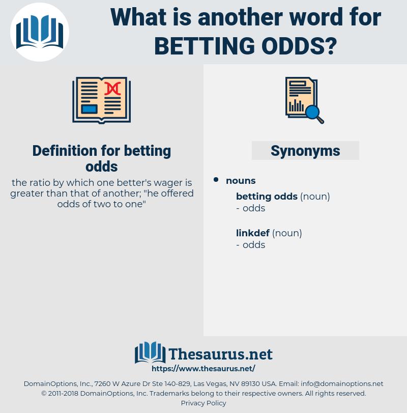 betting odds uk explained synonym
