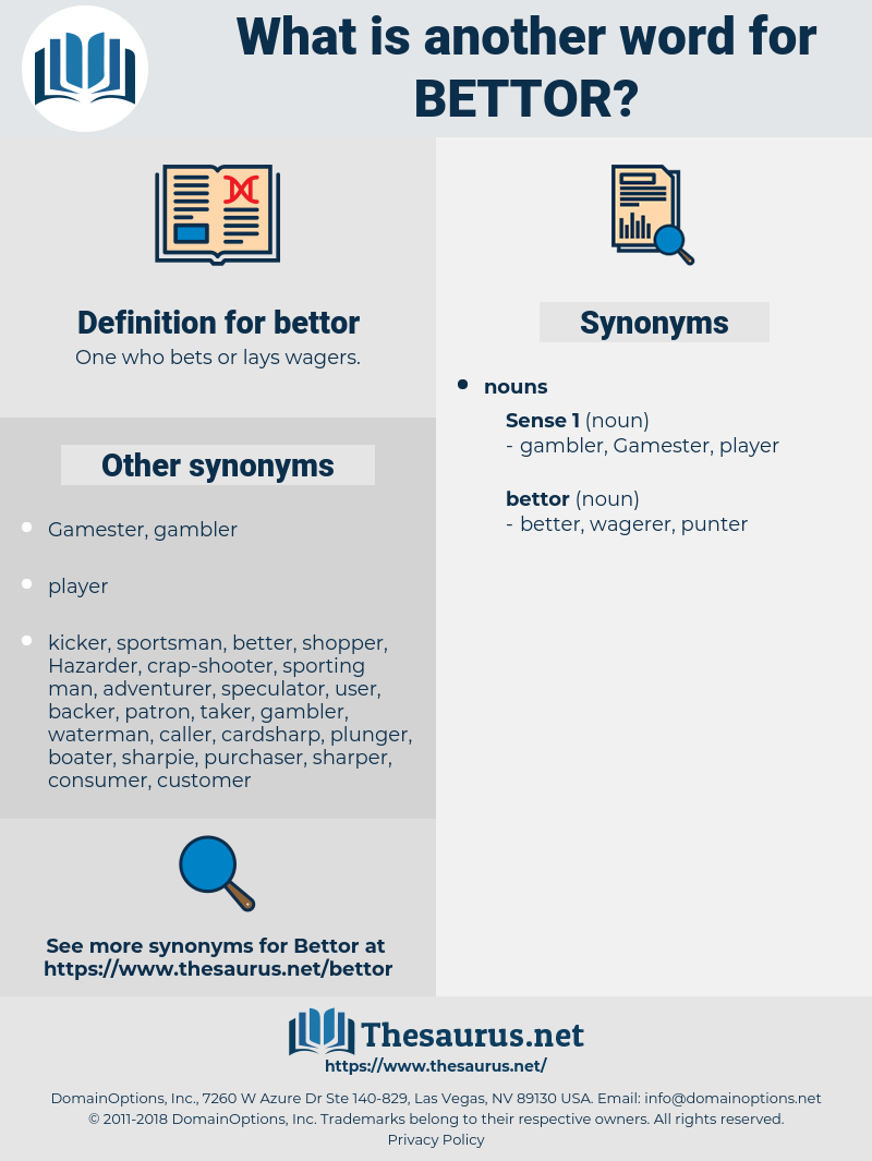 bettor, synonym bettor, another word for bettor, words like bettor, thesaurus bettor