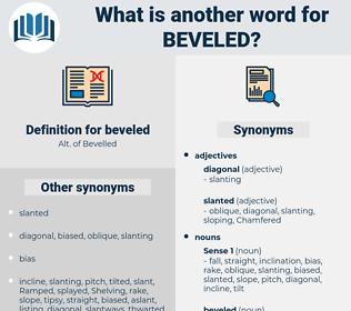 beveled, synonym beveled, another word for beveled, words like beveled, thesaurus beveled