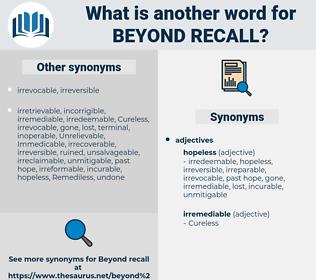 beyond recall, synonym beyond recall, another word for beyond recall, words like beyond recall, thesaurus beyond recall