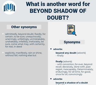 beyond shadow of doubt, synonym beyond shadow of doubt, another word for beyond shadow of doubt, words like beyond shadow of doubt, thesaurus beyond shadow of doubt