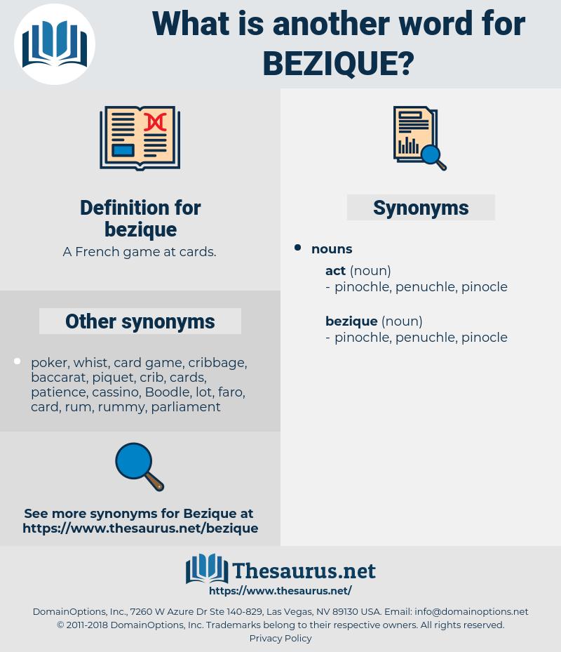 bezique, synonym bezique, another word for bezique, words like bezique, thesaurus bezique