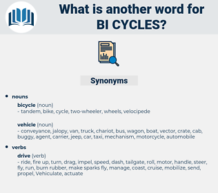 bi cycles, synonym bi cycles, another word for bi cycles, words like bi cycles, thesaurus bi cycles