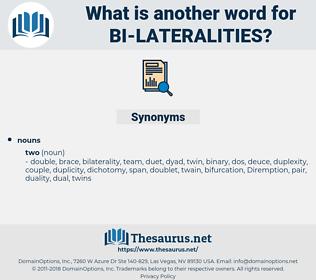 bi lateralities, synonym bi lateralities, another word for bi lateralities, words like bi lateralities, thesaurus bi lateralities