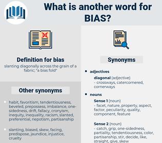 bias, synonym bias, another word for bias, words like bias, thesaurus bias