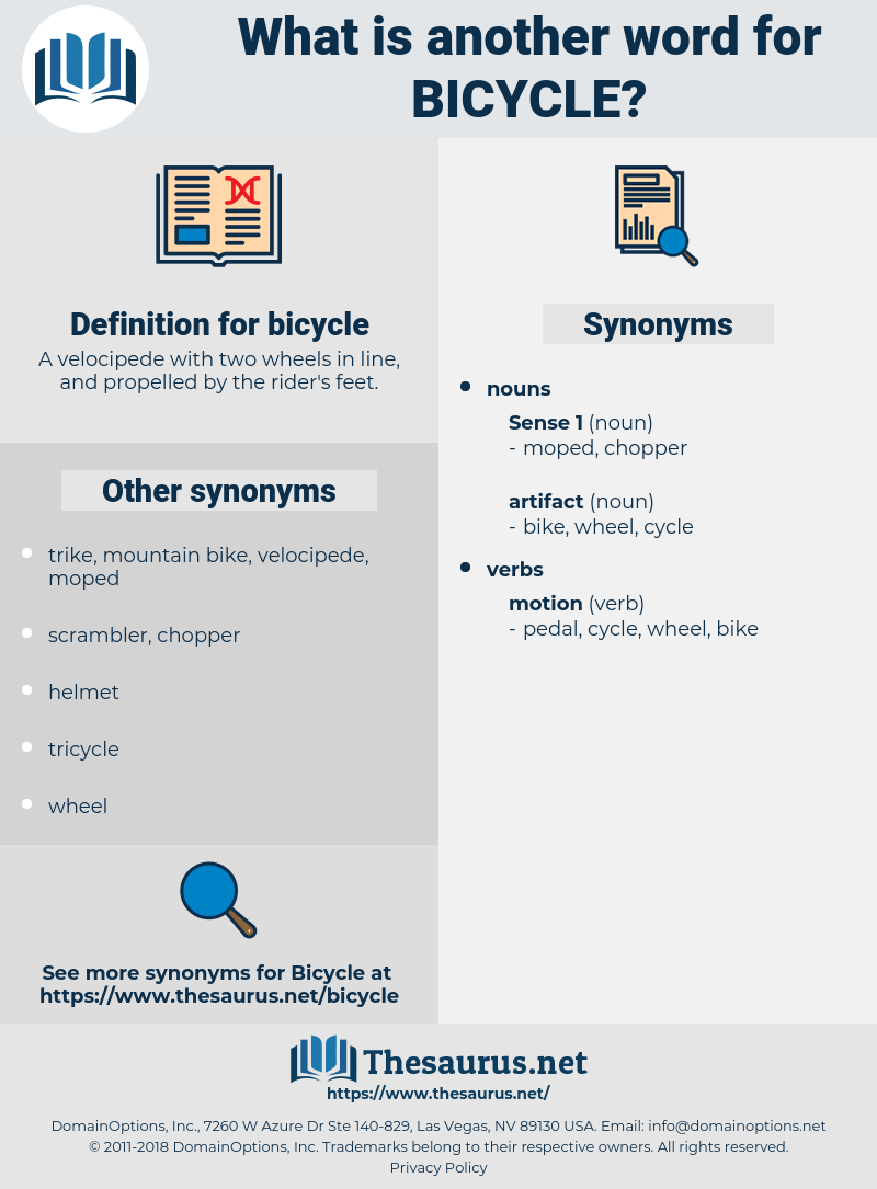 bicycle, synonym bicycle, another word for bicycle, words like bicycle, thesaurus bicycle