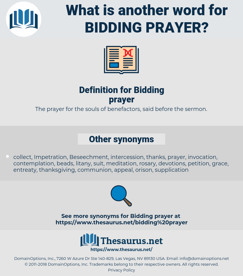 Bidding prayer, synonym Bidding prayer, another word for Bidding prayer, words like Bidding prayer, thesaurus Bidding prayer