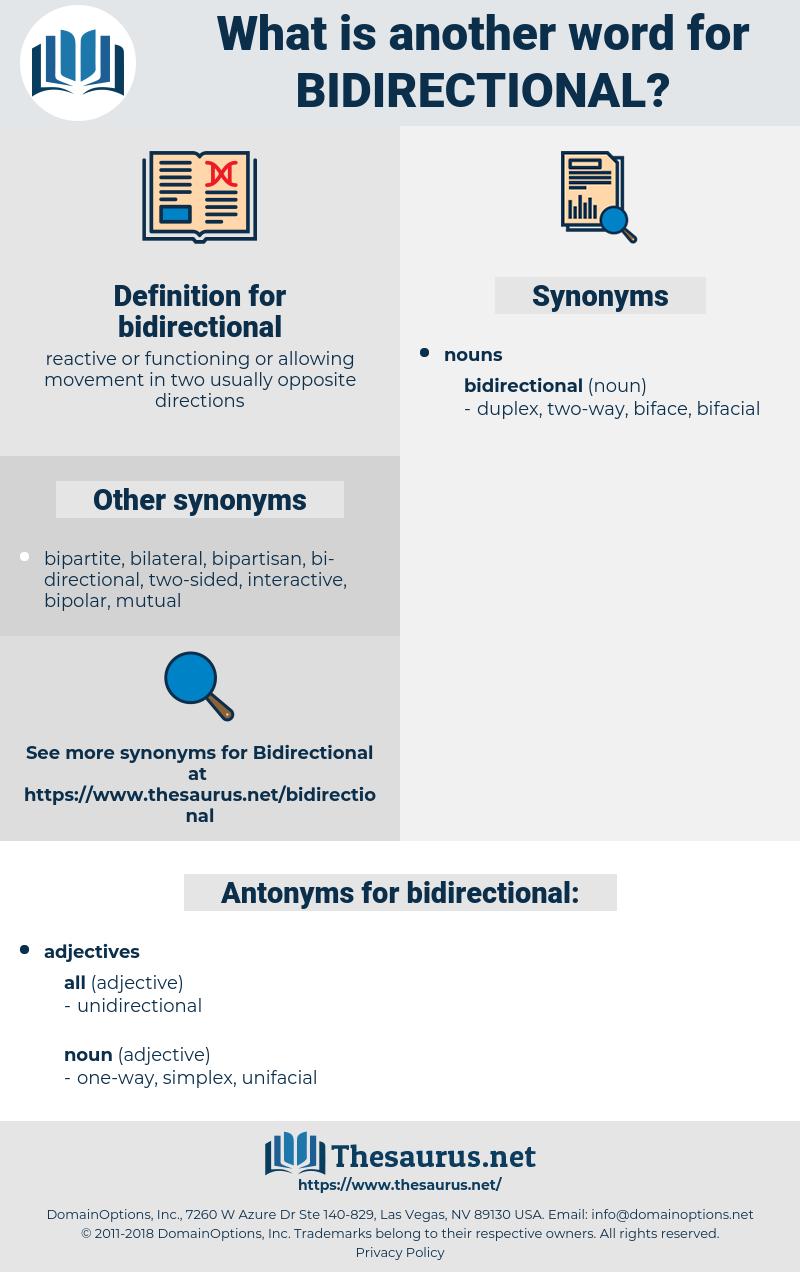 Synonyms For Bidirectional Thesaurus Net