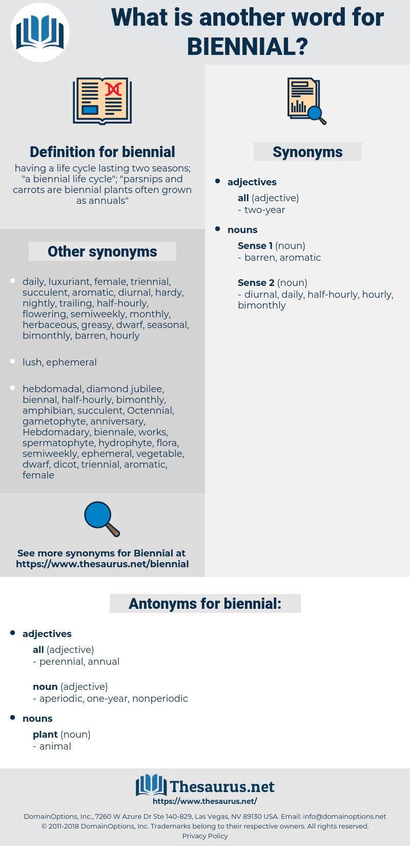 biennial, synonym biennial, another word for biennial, words like biennial, thesaurus biennial