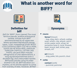 biff, synonym biff, another word for biff, words like biff, thesaurus biff