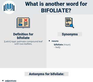 bifoliate, synonym bifoliate, another word for bifoliate, words like bifoliate, thesaurus bifoliate