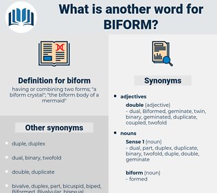 biform, synonym biform, another word for biform, words like biform, thesaurus biform