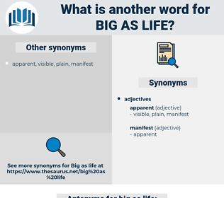 big as life, synonym big as life, another word for big as life, words like big as life, thesaurus big as life