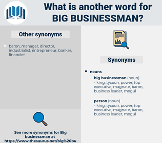 big businessman, synonym big businessman, another word for big businessman, words like big businessman, thesaurus big businessman