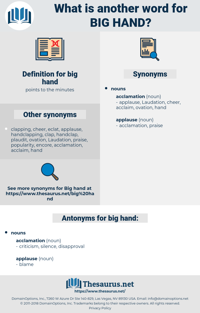 big hand, synonym big hand, another word for big hand, words like big hand, thesaurus big hand