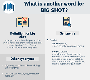 big shot, synonym big shot, another word for big shot, words like big shot, thesaurus big shot