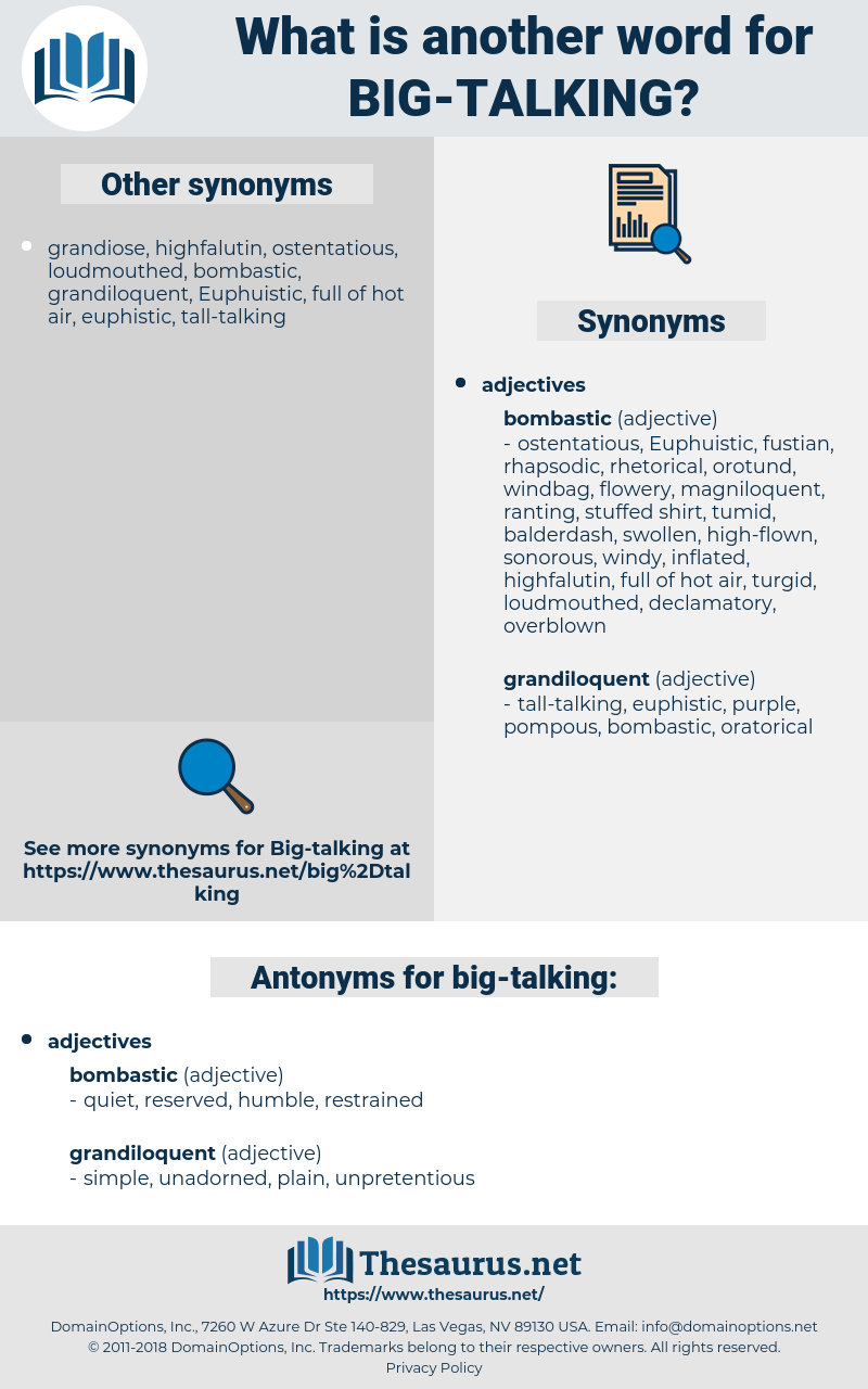 big talking, synonym big talking, another word for big talking, words like big talking, thesaurus big talking