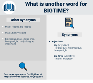 bigtime, synonym bigtime, another word for bigtime, words like bigtime, thesaurus bigtime