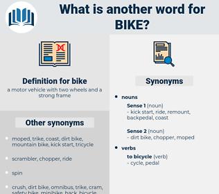 bike, synonym bike, another word for bike, words like bike, thesaurus bike