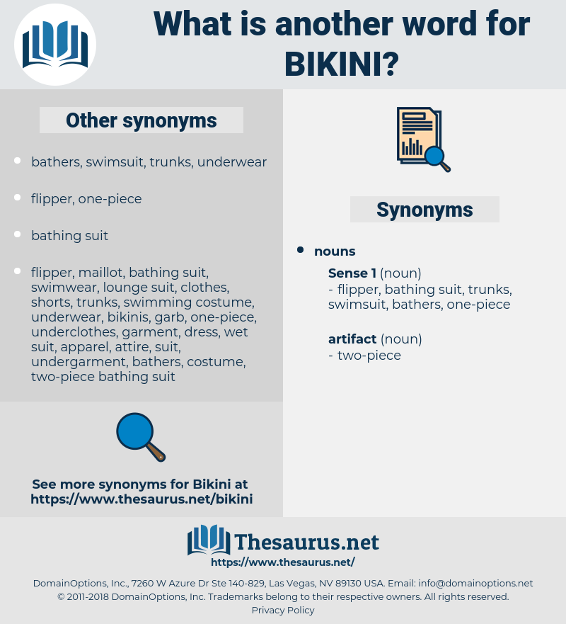 bikini, synonym bikini, another word for bikini, words like bikini, thesaurus bikini