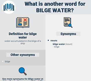 bilge water, synonym bilge water, another word for bilge water, words like bilge water, thesaurus bilge water