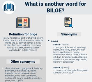 bilge, synonym bilge, another word for bilge, words like bilge, thesaurus bilge