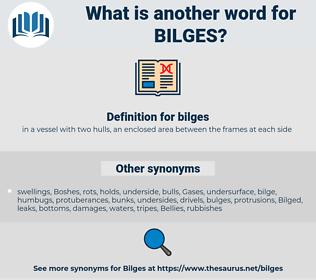 bilges, synonym bilges, another word for bilges, words like bilges, thesaurus bilges