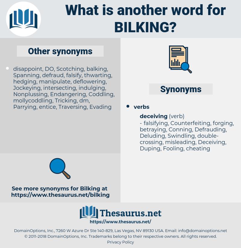 Bilking, synonym Bilking, another word for Bilking, words like Bilking, thesaurus Bilking