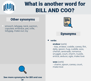 bill and coo, synonym bill and coo, another word for bill and coo, words like bill and coo, thesaurus bill and coo