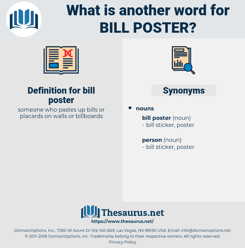 bill poster, synonym bill poster, another word for bill poster, words like bill poster, thesaurus bill poster