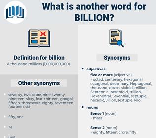 billion, synonym billion, another word for billion, words like billion, thesaurus billion