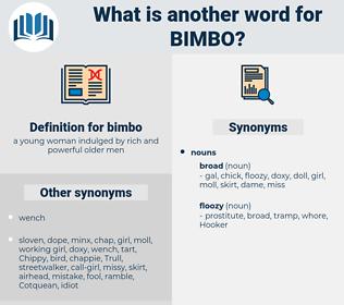 bimbo, synonym bimbo, another word for bimbo, words like bimbo, thesaurus bimbo