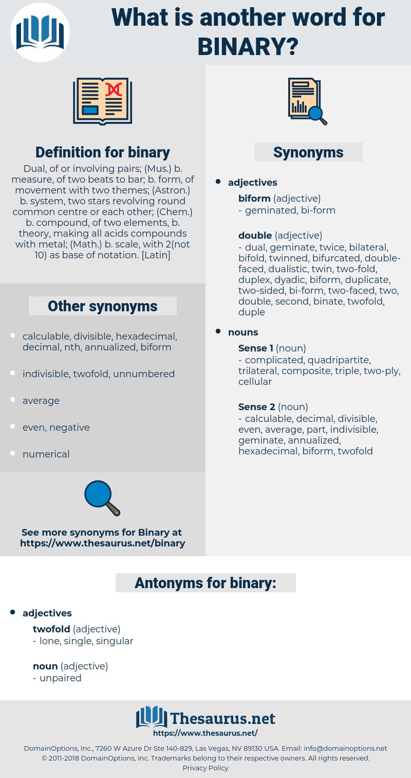 binary, synonym binary, another word for binary, words like binary, thesaurus binary