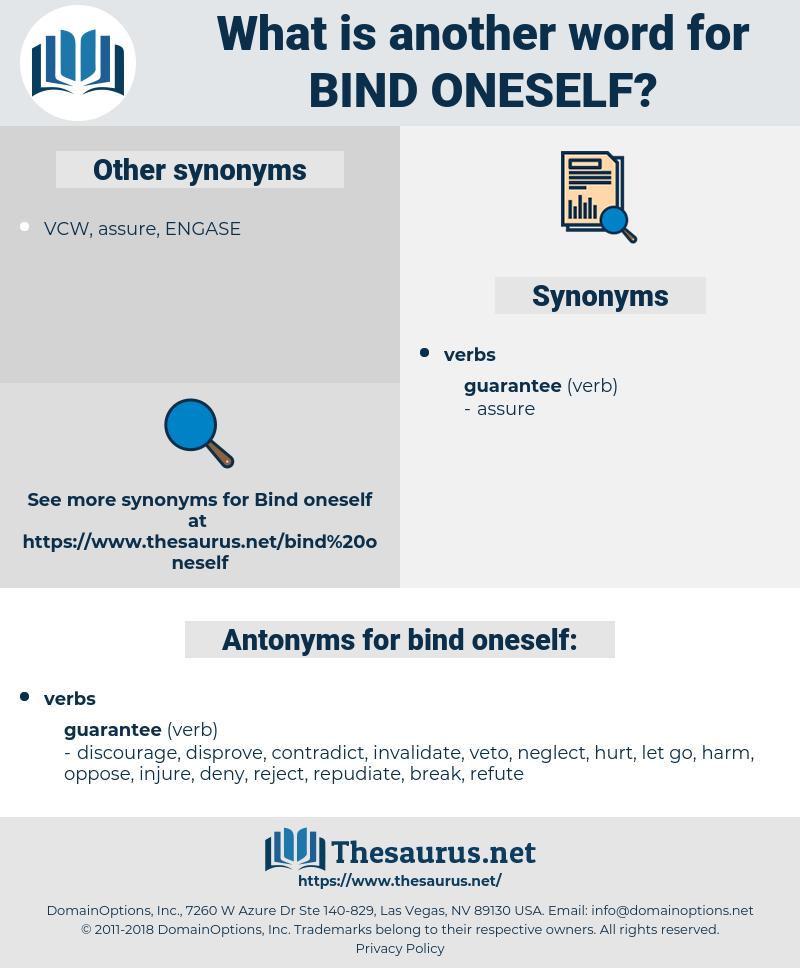 bind oneself, synonym bind oneself, another word for bind oneself, words like bind oneself, thesaurus bind oneself