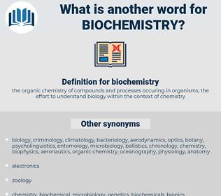 biochemistry, synonym biochemistry, another word for biochemistry, words like biochemistry, thesaurus biochemistry