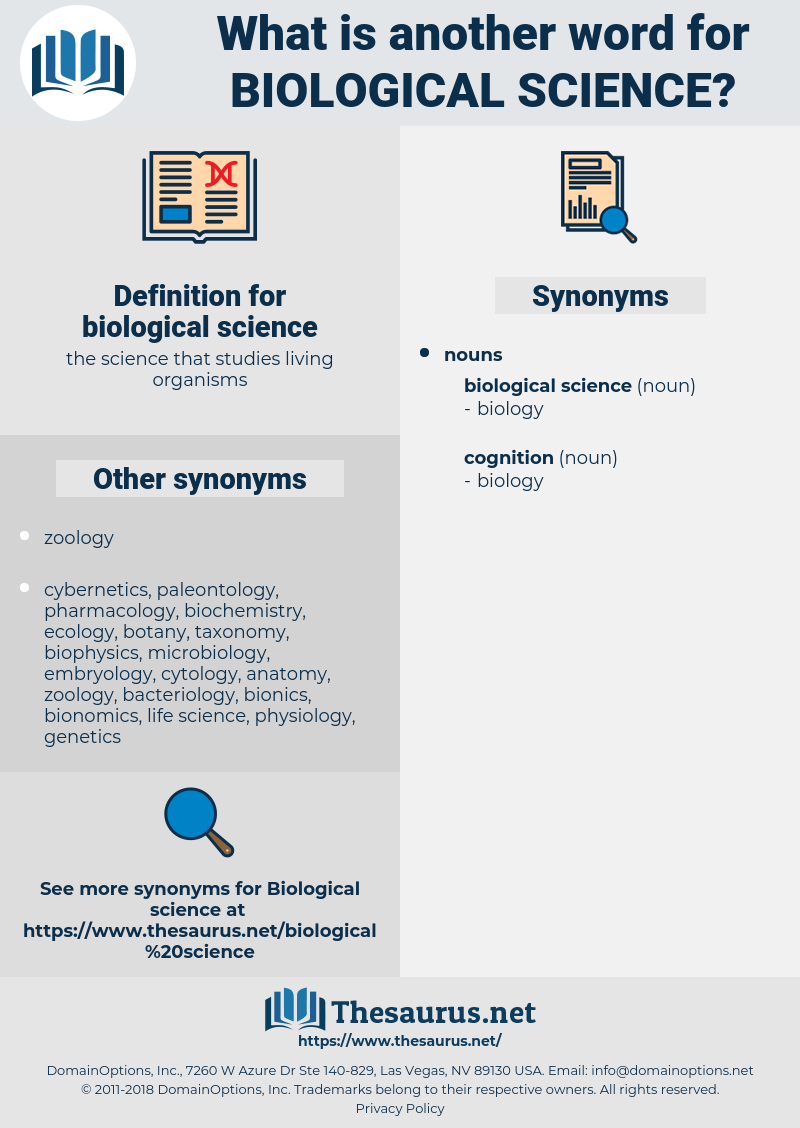 biological science, synonym biological science, another word for biological science, words like biological science, thesaurus biological science