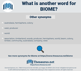 biome, synonym biome, another word for biome, words like biome, thesaurus biome