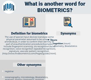 biometrics, synonym biometrics, another word for biometrics, words like biometrics, thesaurus biometrics