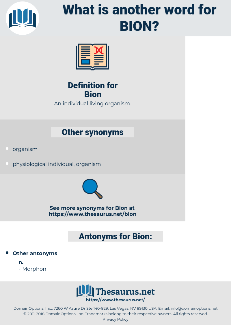 Bion, synonym Bion, another word for Bion, words like Bion, thesaurus Bion