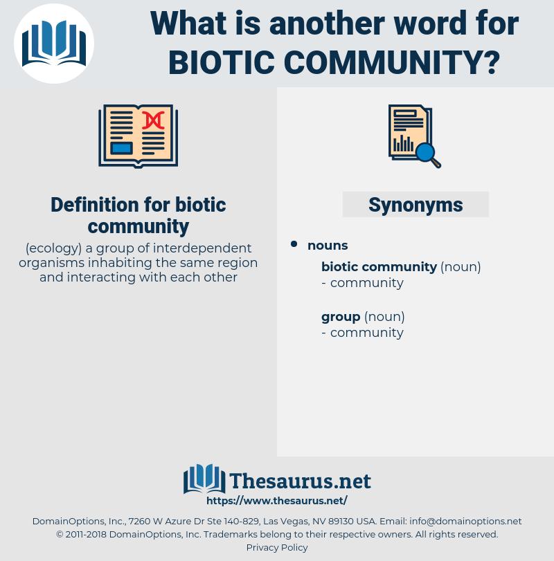 biotic community, synonym biotic community, another word for biotic community, words like biotic community, thesaurus biotic community