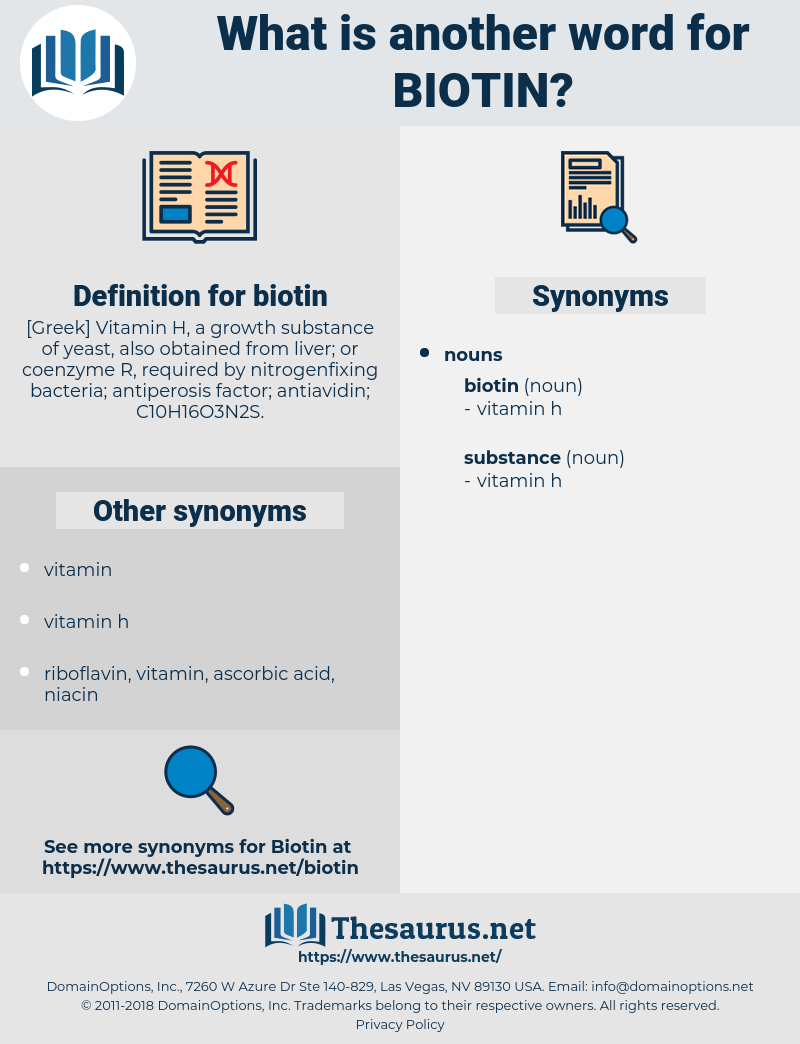 biotin, synonym biotin, another word for biotin, words like biotin, thesaurus biotin