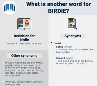 birdie, synonym birdie, another word for birdie, words like birdie, thesaurus birdie
